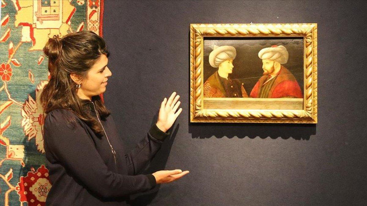 Fatih'in portresinde yanındaki Cem Sultan